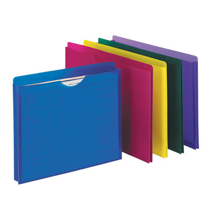 10ct Assorted Translucent Poly File Jackets
