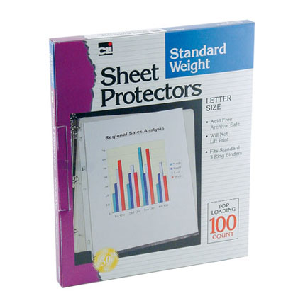 100ct Clear Sheet Protectors