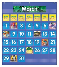 [511479 SC] Monthly Calendar Pocket Chart Kit