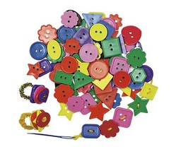 [2132 R] One Pound Bag of Bright Buttons