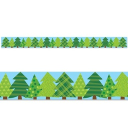 [8386 CTP] Woodland Friends Patterned Pine Trees Border