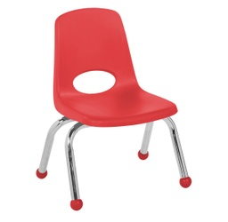 [0193RD ELR] Red 12 inch Stacking Chair   Each