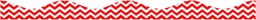 [10198 ASH] Red Chevron Magnetic Border Scallop 12in x 1in