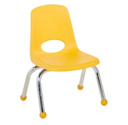 [0192YE ELR] Yellow 10 inch Stacking Chair Each