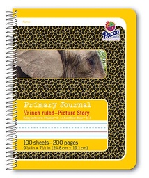 [2430 PAC] Yellow Spiral Bound Composition Book Picture Story Ruling