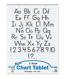 [ZP9701 PAC] 24x32 2in Rule Zaner Bloser Manuscript Chart Tablet