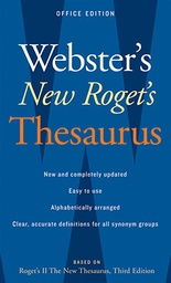 [895592 HOU] Websters New Rogets Thesaurus Paperback