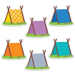 [6010 CTP] Woodland Friends Pup Tents 6in Designer Cut Outs