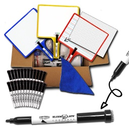 [5439 KS] KleenSlate Customizable Whiteboard Set of 24