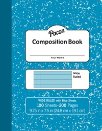 [MMK37170 PAC] Blue Marble Composition Book Wide Ruled