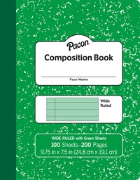 [MMK37172 PAC] Green Marble Composition Book Wide Ruled