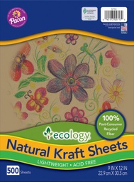 [5713 PAC] Pacon Ecology Natural Kraft Sheets