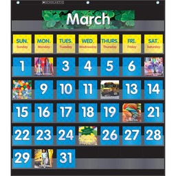 [583866 SC] Black Monthly Calendar Pocket Chart