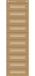 [20840 TCR] Burlap 10 Pocket File Storage Pocket Chart