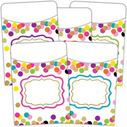 [2736 TCR] Confetti Library Pockets - Multi-Pack