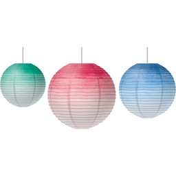 [77106 TCR] Watercolor Hanging Paper Lanterns