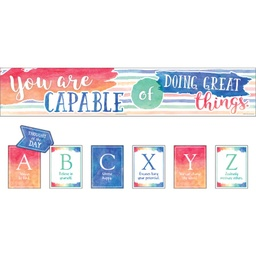 [8959 TCR] Watercolor You Are Capable of Doing Great Things Bulletin Board Set