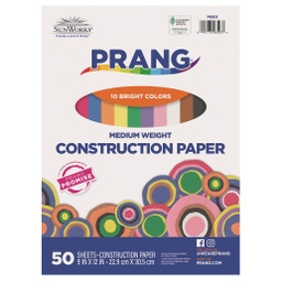 [6503 PAC] 9x12 Assorted Sunworks Construction Paper 50ct Pack