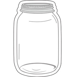 [120543 CD] Industrial Chic Mason Jars Cut Outs