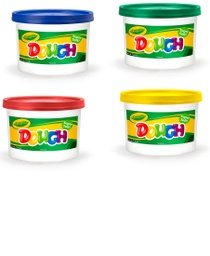 [5700150ST BIN] 4 Color Set Crayola Dough 3lb Buckets