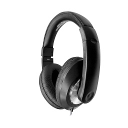 [ST1BKU HE] Smart-Trek Deluxe Stereo Headphones with In-Line Volume Control and USB Plug