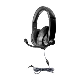 [ST2BK HE] Smart-Trek Deluxe Stereo Headset with In-Line Volume Control and 3.5mm TRRS Plug