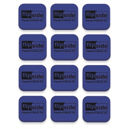 [35030 FS] 12ct Blue Magnetic Whiteboard Erasers