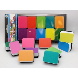 [78100 ASH] 10ct Mini Magnetic Whiteboard Erasers Assorted Colors