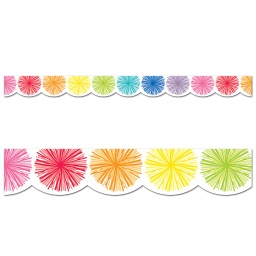 [108359 CD] Poms Scalloped Borders