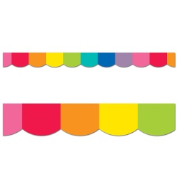 [108360 CD] Rainbow Scalloped Borders