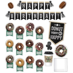 [110482 CD] Industrial Cafe Birthday Bulletin Board Set Birthday