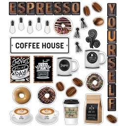 [110485 CD] Industrial Cafe Espresso Yourself Mini Bulletin Board Set