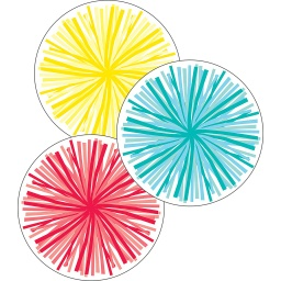 [120556 CD] Poms Colorful Cut Outs Assorted