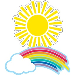 [120558 CD] Hello Sunshine Rainbows & Suns Colorful Cut Outs Assorted