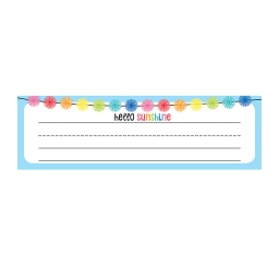[122042 CD] Hello Sunshine Desk Nameplates