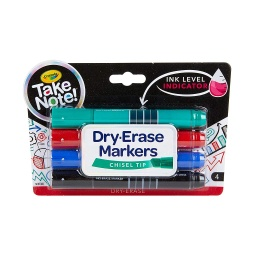 [586543 BIN] Crayola 4ct Take Note! Broad Line Dry Erase Markers