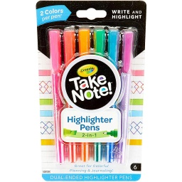 [586534 BIN] Crayola 6ct Take Note! Dual-Ended Highlighter Pens