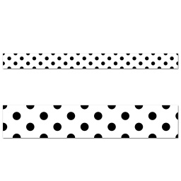 [10063 CTP] Core Decor Black Polka Dots Border