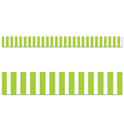 [10069 CTP] Core Decor Lime Green Bold Stripes Border