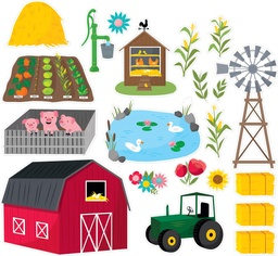 [10237 CTP] Farm Friends Farm Fun Bulletin Board Set
