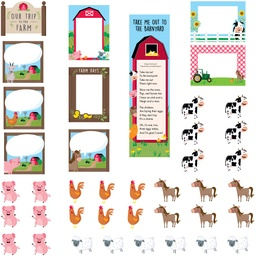 [10240 CTP] Farm Friends Our Trip to the Farm Mini Bulletin Board Set