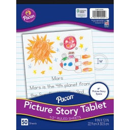 [CAR12555 PAC] D'Nealian 50 Sheet Picture Story Tablet
