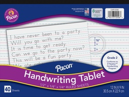 [CAR12556 PAC] D'Nealian 40 Sheet Learn to Write Handwriting Tablet