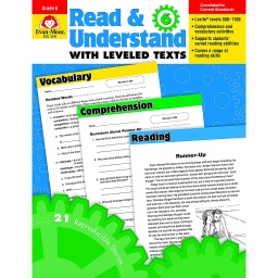 [3446 EMC] Read & Understand with Leveled Texts, Grade 6