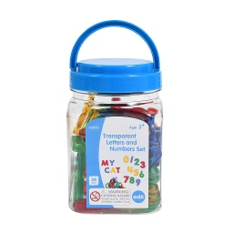 [56500 CTU] Transparent Letters and Numbers - Mini Jar