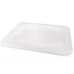 [20342 TCR] Clear Plastic Storage Bin Lid - Small