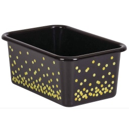 [20889 TCR] Black Confetti Small Plastic Storage Bin