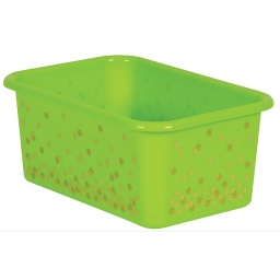 [20890 TCR] Lime Confetti Small Plastic Storage Bin