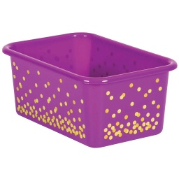 [20892 TCR] Purple Confetti Small Plastic Storage Bin