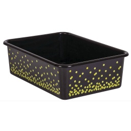 [20896 TCR] Black Confetti Large Plastic Storage Bin